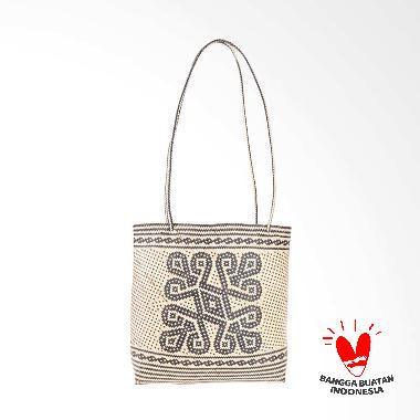 Borneo Craft Collection Tas Rotan - Natural Black TRS4