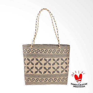 Borneo Craft Collection Tas Rotan - Natural Black TRS7