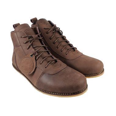 Bradley's Brodo Ceper Sepatu Boots Pria - Brown