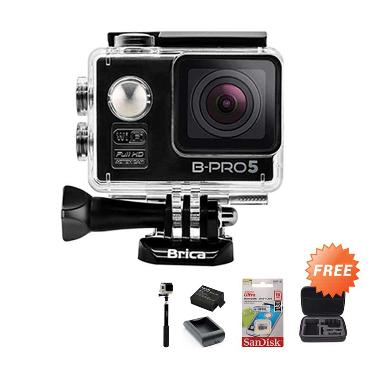 Brica Alpha Edition Action Cam - Bl ... terai + Charger + Tongsis