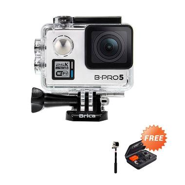 Brica Alpha Plus Silver Action Cam + Tongsis + Small Bag