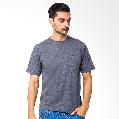 Browncola Kaos Polos Kaos Pria - Dark Grey