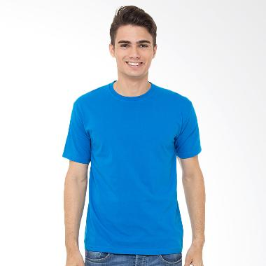 Browncola Polos Kaos Pria - Turkish Blue