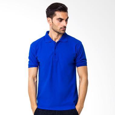 Browncola Polo Shirt Kaos Pira - Blue
