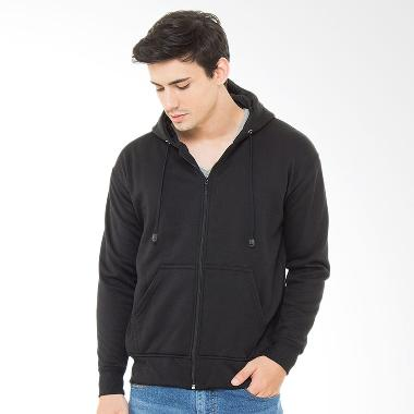 Browncola Zipper Jacket - Full Black