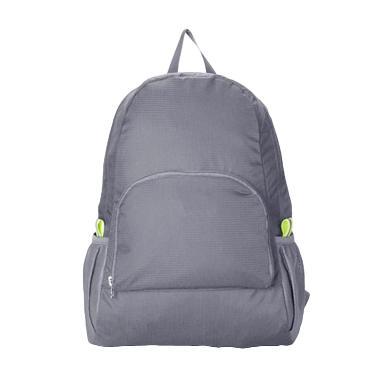 Troosbag Foldable Backpack Travel Basic Grey FB01 Ransel Lipat