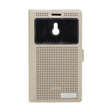 Excellence Firefly Gold Flip Cover Casing for Nokia XL