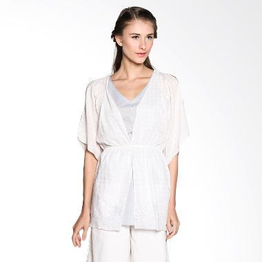 Bungah Cut Out Sleeves Mini Dress A11 - Blue Grey