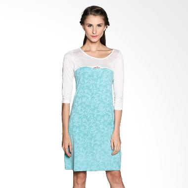Bungah Simple Dress Jersey A15 - Aqua Blue