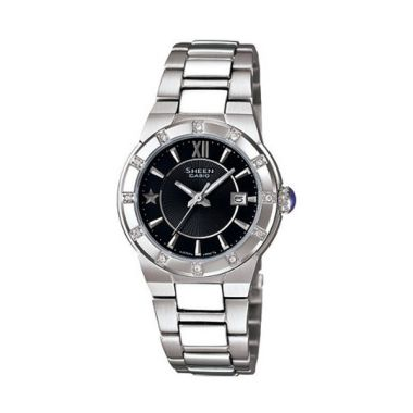 Casio Sheen SHE-4500D-1ADR Silver H ...