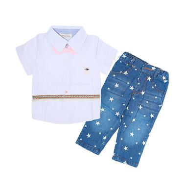 Candy Baby White Shirt and Star Jeans setelan Anak Laki - Laki