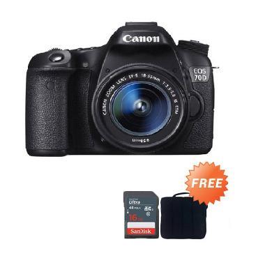 Canon 70d Kamera DSLR + Free Canon Tas Kamera + Sandisk 16 GB