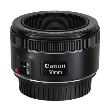 Canon EF 50mm f/1.8 STM Lensa Kamera + FILTER UV