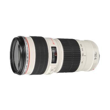 Canon EF 70-200mm F4L USM Lensa Kamera - White