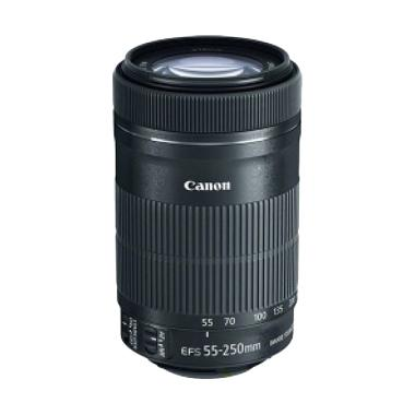 Canon EF-S 55-250mm f/4-5.6 IS STM Lensa Kamera - Hitam