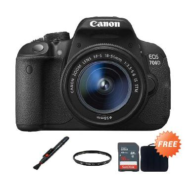 Canon Eos 700d 18-55 IS STM Kamera  ...  16 GB + Filter + Lenspen
