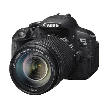 Canon EOS 700D Kit 18-135mm IS STM  ... ensa + Tas + Screen Guard