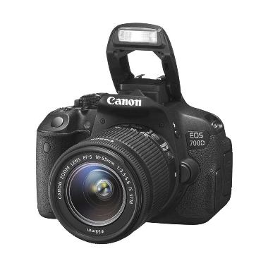 Canon EOS 700D Lensa Kit 18-55mm IS STM Kamera DSLR - Hitam [18 MP]
