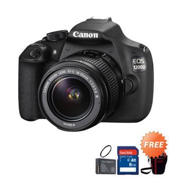 Canon EOS 70D Kit 18-135mm IS STM Kamera DSLR [20.2 MP/WiFi] + Free Baterai LP-E6 + Camera Srist Strap Leather + Memory 8 GB + Tas Kamera BX40 Logo EOS
