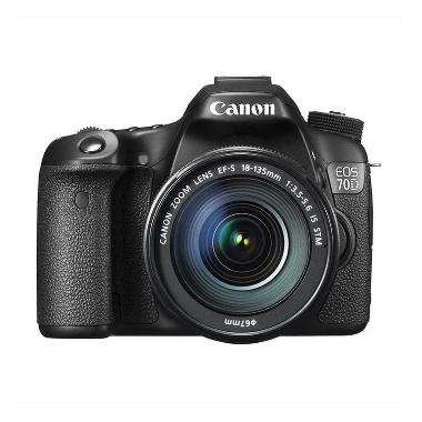 Canon EOS 70D Kit 18-135mm Hitam Kamera DSLR [Wifi/ 20.2 MP]