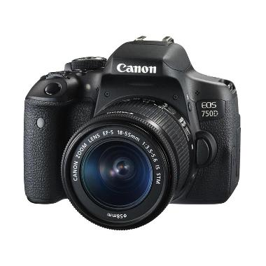 Canon EOS 750D-EF-S 18-55mm IS STM Kit Kamera DSLR - Distributor