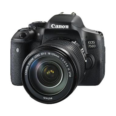 Canon EOS 750D Wifi Kit 18-135mm IS ... k + Free LCD Screen Guard