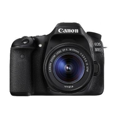 Canon EOS 80D Wifi Kit 18-55mm IS S ... k + Free LCD Screen Guard