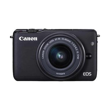 Canon EOS M10 Kit 1 15-45mm IS STM Hitam