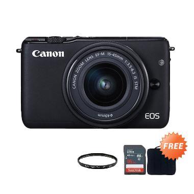 Canon EOS M10 Kit 15-45mm STM Kamer ...  + Sandisk 16 GB + Filter
