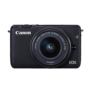 Canon EOS M10 Kit EF-M 15-45mm IS STM Kamera Mirrorless - Hitam
