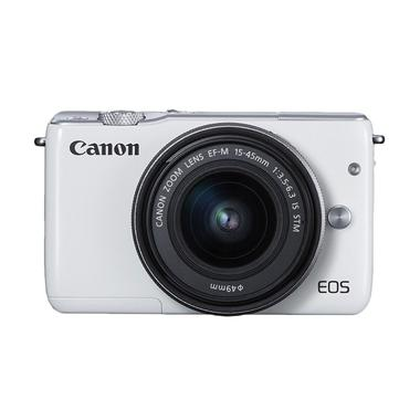 Canon EOS M10 Kit EF-M 15-45mm IS S ... rorless - Putih jpckemang