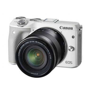 Canon EOS M3 Kit 18-55mm IS STM Whi ... Memory 16GB + Screenguard