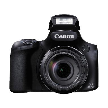 Canon Powershot SX60 65x Optical Zoom Kamera DSLR - Hitam [16 MP]