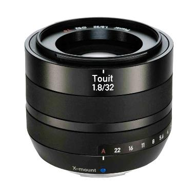 Carl Zeiss Lens Touit 32mm f/1.8 X-Mount Lensa Kamera - Hitam