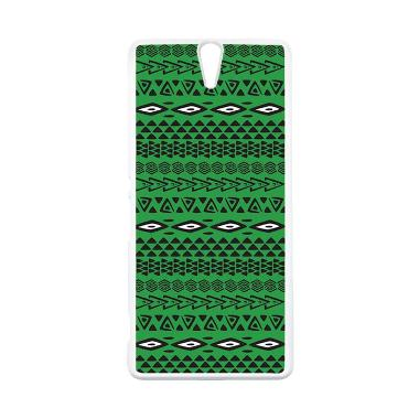 on sale e35ab 029ca CARSTENEZIO Case Casing Sony Xperia C5 Ultra Or Sony Xperia C5 Ultra Dual  Case Hardcase Putih Motif Batik Tribal 34