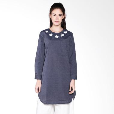 Carte Star Long Top - Black