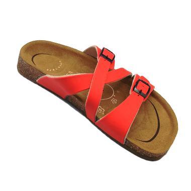Carvil Footbed Khanza Sandal Wanita - 07 Red
