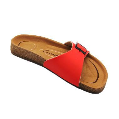 Carvil Footbed Khanza Sandal Wanita - 01 Red