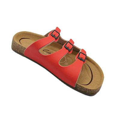 Carvil Footbed Khanza Sandal Wanita - 03 Red
