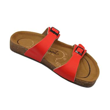 Carvil Footbed Khanza Sandal Wanita - 04 Red