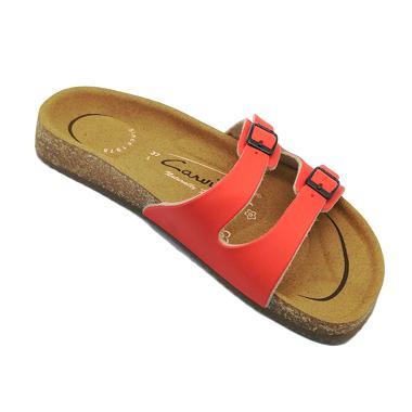Carvil Footbed Khanza Sandal Wanita - 05 Red