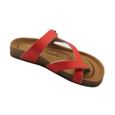 Carvil Footbed Khanza Sandal Wanita - 06 Red