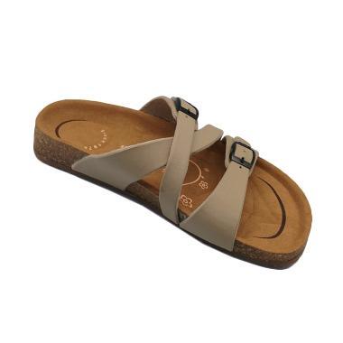 Carvil Footbed Khanza Sandal Wanita - 07 Beige