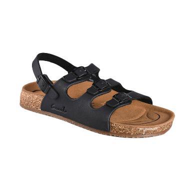 Carvil Sandal Footbed Khanza 10 Sandal Wanita - Black