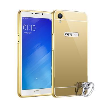 Best seller Case Mirror Bumper Casing for Oppo F1 Selfie Expert - Emas