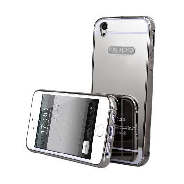 Best seller Case Mirror Bumper Casing for Oppo Mirror 5s A51T - Hitam