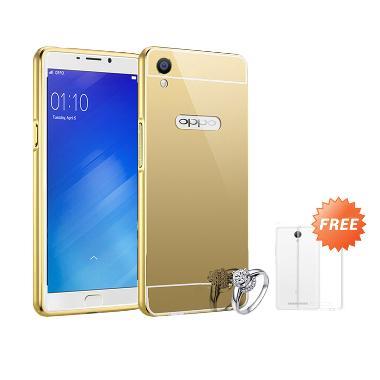 Best seller Case Mirror Bumper for  ... t - Gold + Free Ultrathin