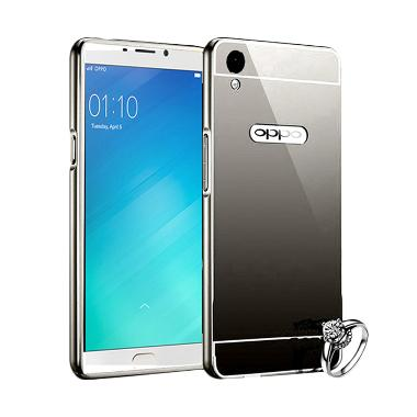 Best Seller Case Mirror Bumper for Oppo F1 Plus Selfie Expert - Hitam