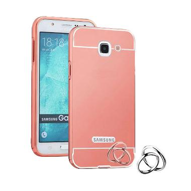 Case Aluminium Bumper Mirror Slide  ... Galaxy Note 2 - Rose Gold