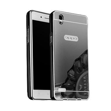 Case Bumper Metal Sliding Backcase Casing for Oppo F1 Plus - Black